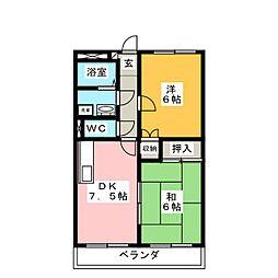 ペガサス緑ヶ丘2号館[2階]の間取り