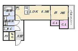 アムラックスII[3階]の間取り
