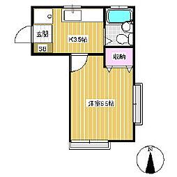 ソレイユK[2階]の間取り