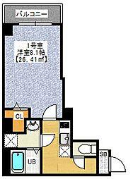 セントハウス横川 5階1Kの間取り