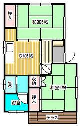 [一戸建] 千葉県松戸市大金平4丁目 の賃貸【/】の間取り