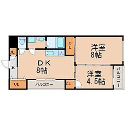 ピュアティ武庫之荘III[2階]の間取り