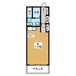 コモドベルデ[8階]の間取り