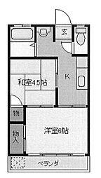第1馬橋マンション[3階]の間取り