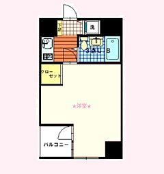 神奈川県横浜市西区花咲町4丁目の賃貸マンションの間取り