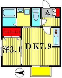 ドルフK−3[1階]の間取り