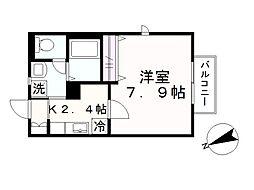 メゾン・Momo[203号室]の間取り