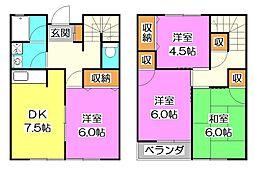 [テラスハウス] 埼玉県所沢市北中3丁目 の賃貸【/】の間取り