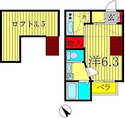 ヒューマンパレス南流山III[2階]の間取り