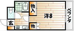 ホワイトハイツ一枝[2階]の間取り