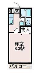 サニーサイドマンション[2階]の間取り