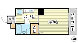 O-4マンション[401号室]の間取り