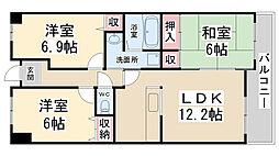 センチュリーコート宝塚弐番館[203号室]の間取り