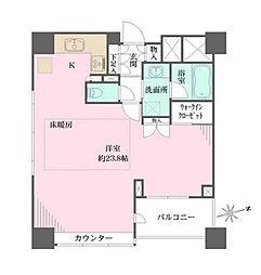東京メトロ有楽町線 江戸川橋駅 徒歩3分の賃貸マンション 3階ワンルームの間取り