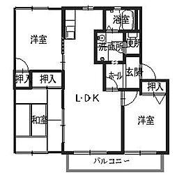 ラフォーレ青山[2階]の間取り