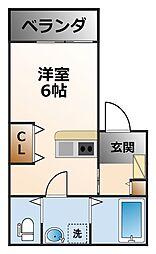 ネクステージ笠屋町[2階]の間取り