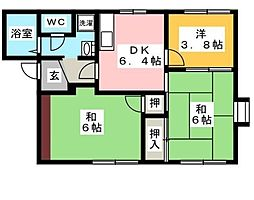 メゾン茅ヶ崎3[2階]の間取り
