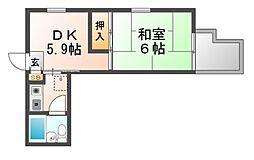 パラツィーナエスタ武庫元町[1階]の間取り