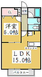 埼玉県川口市大字辻の賃貸アパートの間取り