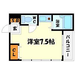 ヒルズ円山[2階]の間取り