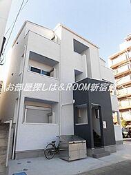 埼玉県草加市中央2の賃貸アパートの外観