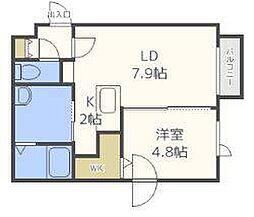 Rilassa N24[4階]の間取り
