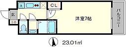 ラナップスクエア京都東山206[2階]の間取り