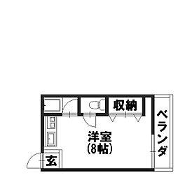 畑マンション[202号室]の間取り