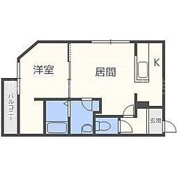 仮)ラヴェーラ福住[4階]の間取り