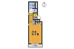 ジュネス武庫之荘[1階]の間取り
