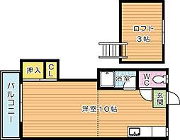 シティベール引野 A棟[2階]の間取り
