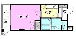 駅前マンション田窪[504 号室号室]の間取り