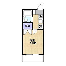 ハーモニー三田[301号室]の間取り