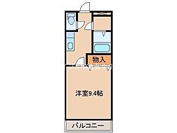 岡山県倉敷市有城の賃貸マンションの間取り