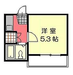 彩光荘[102号室]の間取り