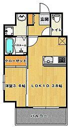 ウインステージ箱崎II[2階]の間取り