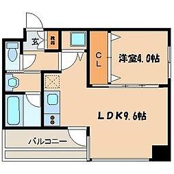 リッツ中央[8階]の間取り