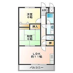マンションアムール[2階]の間取り