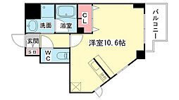 大阪府大阪市西区靭本町3丁目の賃貸マンションの間取り