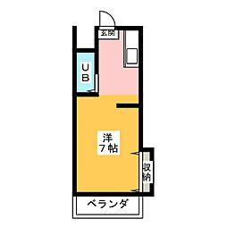 レジデンス岡本[1階]の間取り