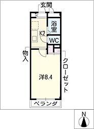 エル・U・M[2階]の間取り
