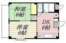 セゾンアキ[0203号室]の間取り