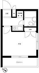 東京都大田区南馬込2の賃貸マンションの間取り
