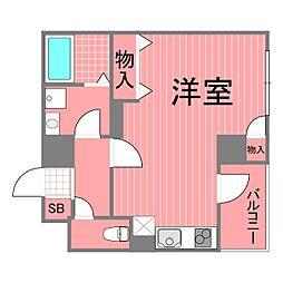 セントラル横浜[6階]の間取り