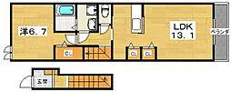 グランソレイユ壱番館[2階]の間取り