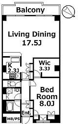 クレール白金台[5階]の間取り