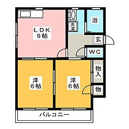 ドムールG(A)[2階]の間取り