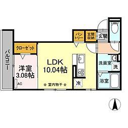 JR東海道本線 岐阜駅 徒歩9分の賃貸アパート 1階1LDKの間取り
