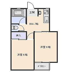 広島県広島市西区庚午中4丁目の賃貸マンションの間取り
