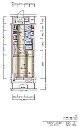 JR中央本線 大曽根駅 徒歩7分の賃貸マンション 9階1Kの間取り